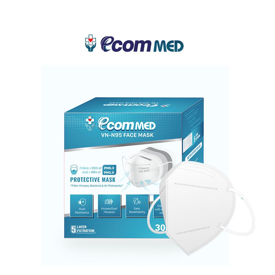 Khẩu trang N95 thương hiệu EcomMed